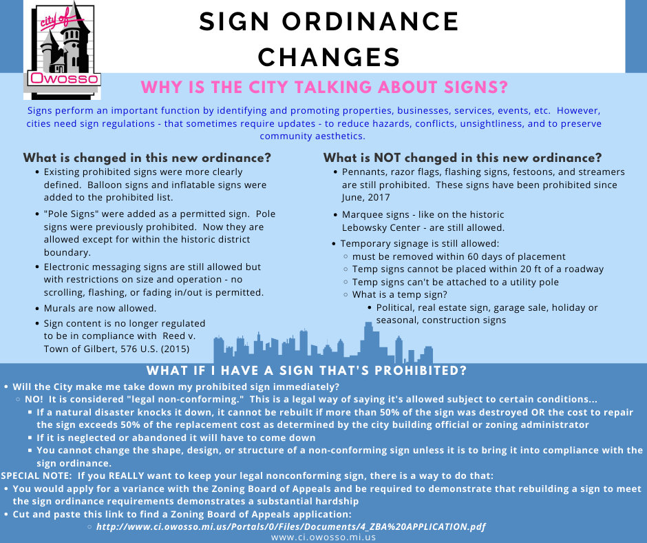 Sign Ordinance Info Flyer